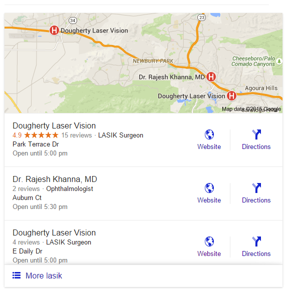Google SERP Changes, Updates Local Search Results