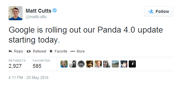 Google Rolls Out Panda 4.0 Update
